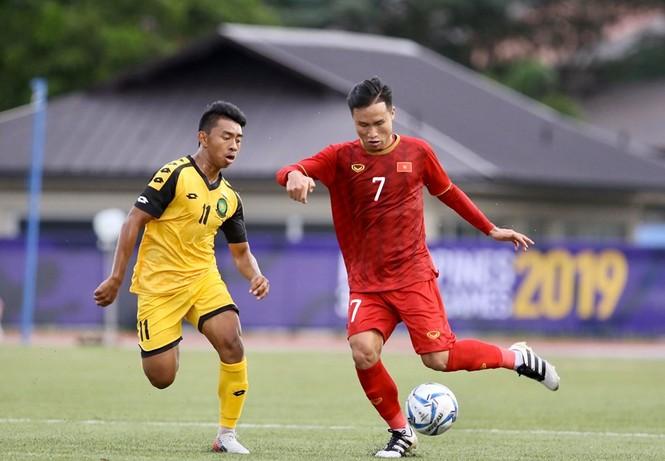 Đức Chinh 'nổ súng' tưng bừng, U22 Việt Nam dội mưa gôn vào lưới Brunei - ảnh 14