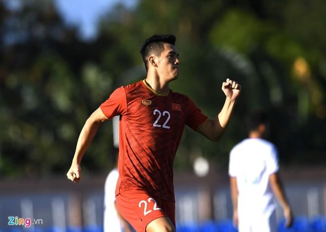 Tiến Linh lập hat-trick, U22 Việt Nam thắng đậm Lào - ảnh 1