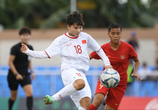 Thắng Indonesia 6-0, tuyển nữ Việt Nam vào bán kết SEA Games 30 - ảnh 9