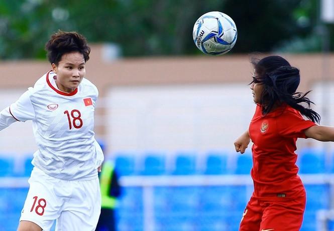 Thắng Indonesia 6-0, tuyển nữ Việt Nam vào bán kết SEA Games 30 - ảnh 4