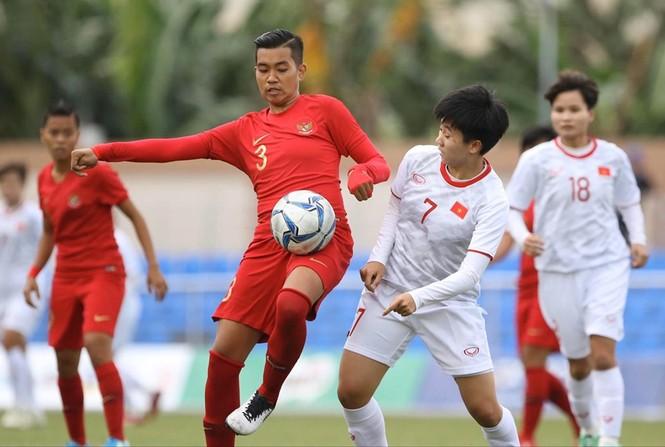 Thắng Indonesia 6-0, tuyển nữ Việt Nam vào bán kết SEA Games 30 - ảnh 7
