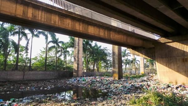 Bãi rác ngập dưới chân cầu Thăng Long là từ đâu? - ảnh 1