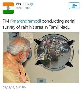 Ảnh ghép Thủ tướng Ấn Độ 'gây bão' mạng xã hội - ảnh 1