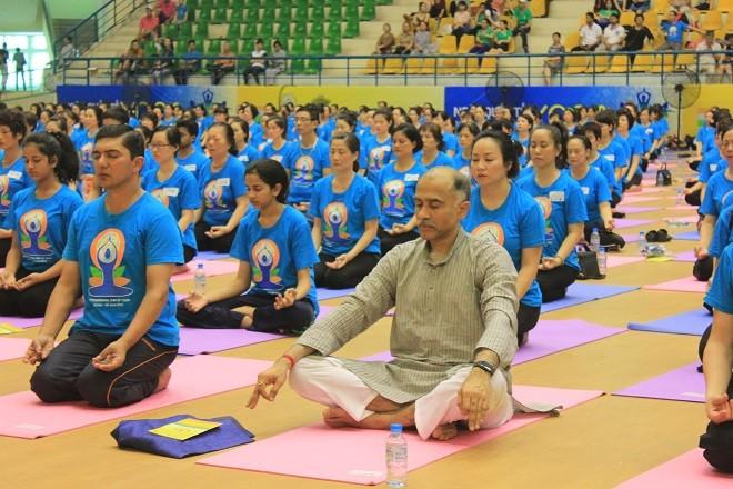 Gần 2000 người tham dự ngày Quốc tế Yoga tại Hà Nội - ảnh 8