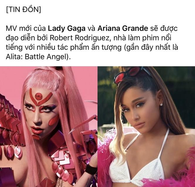 """Xác nhận chính thức màn collab: Ariana Grande và """"mẹ quái vật"""" Lady Gaga - ảnh 1"""