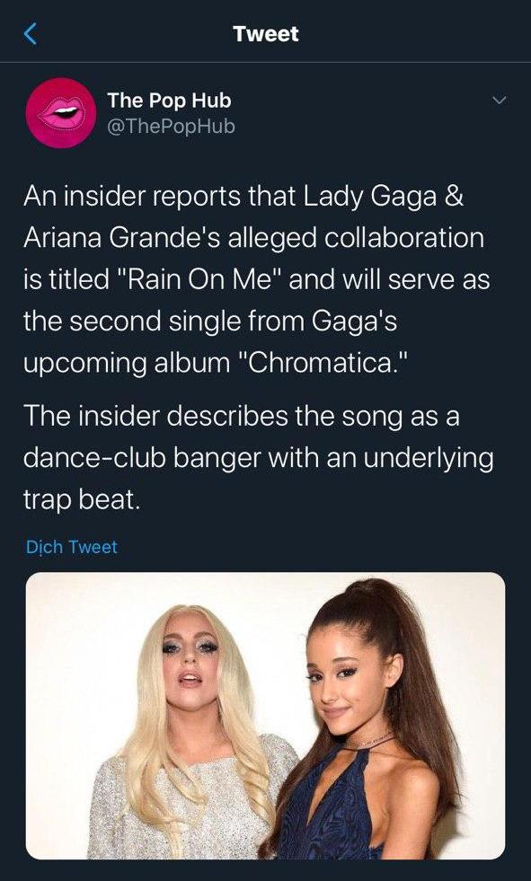 """Xác nhận chính thức màn collab: Ariana Grande và """"mẹ quái vật"""" Lady Gaga - ảnh 3"""
