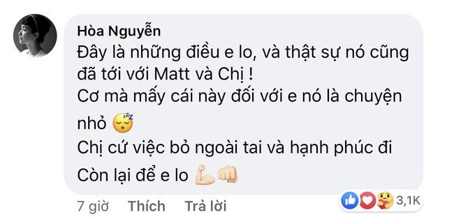Ấm lòng với lời Hòa Minzy nhắn gửi Hương Giang sau hàng loạt ồn ào về Matt Liu - ảnh 4
