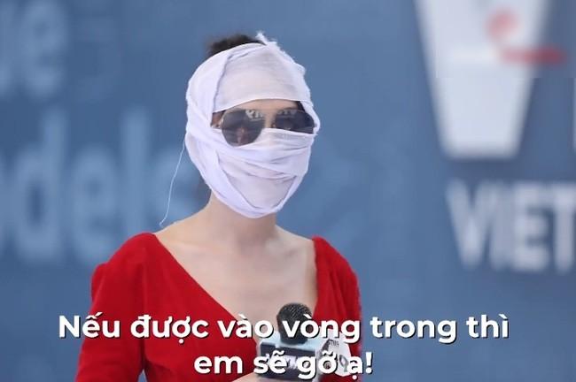 """Hà An """"Người Ấy Là Ai"""" băng kín mặt đi thi người mẫu, ngờ đâu gặp tác dụng ngược - ảnh 3"""