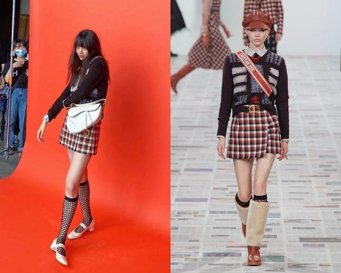 """""""Hoa hậu Hàn Quốc"""" Jisoo và """"Mỹ nhân mặt mộc"""" Suzy lại đụng độ váy áo nảy lửa - ảnh 3"""