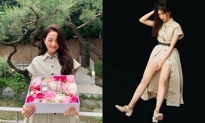 """""""Hoa hậu Hàn Quốc"""" Jisoo và """"Mỹ nhân mặt mộc"""" Suzy lại đụng độ váy áo nảy lửa - ảnh 5"""
