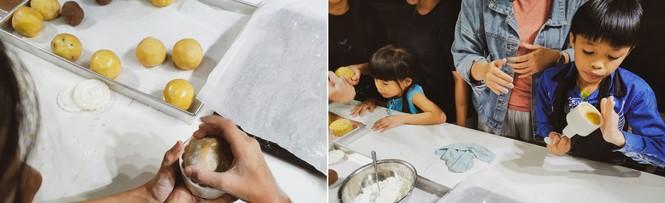 Khoảnh khắc lần đầu làm bánh trung thu của các em ở lớp học tình thương Rạch Ông - ảnh 8