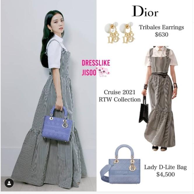 """Cùng là """"nàng thơ Dior"""" nhưng Triệu Lệ Dĩnh và Jisoo (BLACKPINK) lại hiếm khi đụng hàng - ảnh 4"""