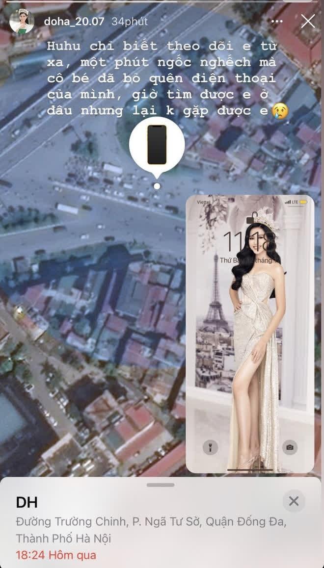 """Sau khi tài khoản Facebook """"bay màu"""", Hoa hậu Đỗ Thị Hà lại đánh rơi điện thoại - ảnh 2"""