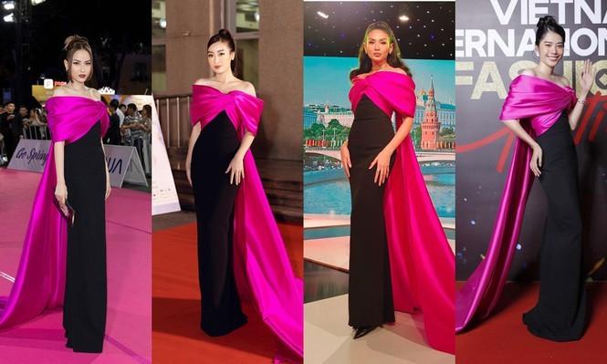 Mặc cùng bộ váy tiên cá, Hoa hậu Đỗ Thị Hà hay Lương Thùy Linh khác biệt ra sao? - ảnh 1