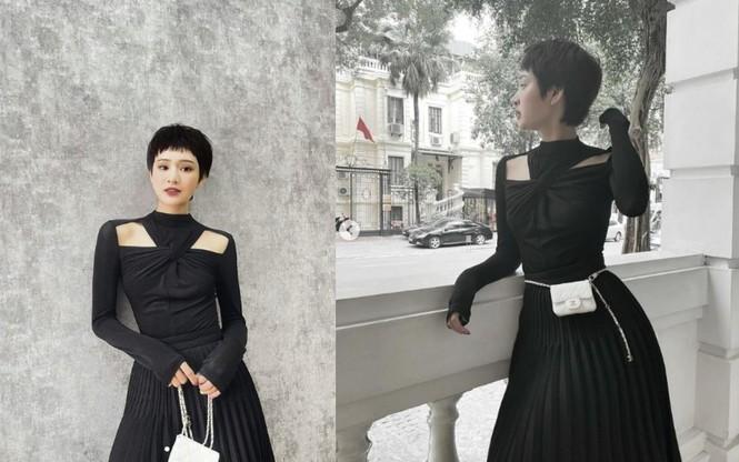 Nhìn ba người đẹp V-Biz đụng hàng bộ váy đen mới thấy quá mảnh mai chưa chắc đã đẹp - ảnh 6