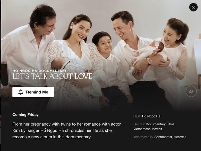 Thêm lựa chọn để Tết này ở nhà không chán: Xem Hồ Ngọc Hà kể về tình yêu  trên Netflix   Hậu trường SHOWBIZ   Chuyên trang Hoa Học Trò - Chuyên