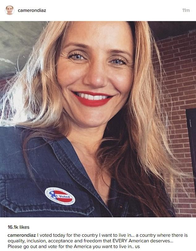 Sao Mỹ nô nức đi bầu cử Tổng thống - ảnh 9