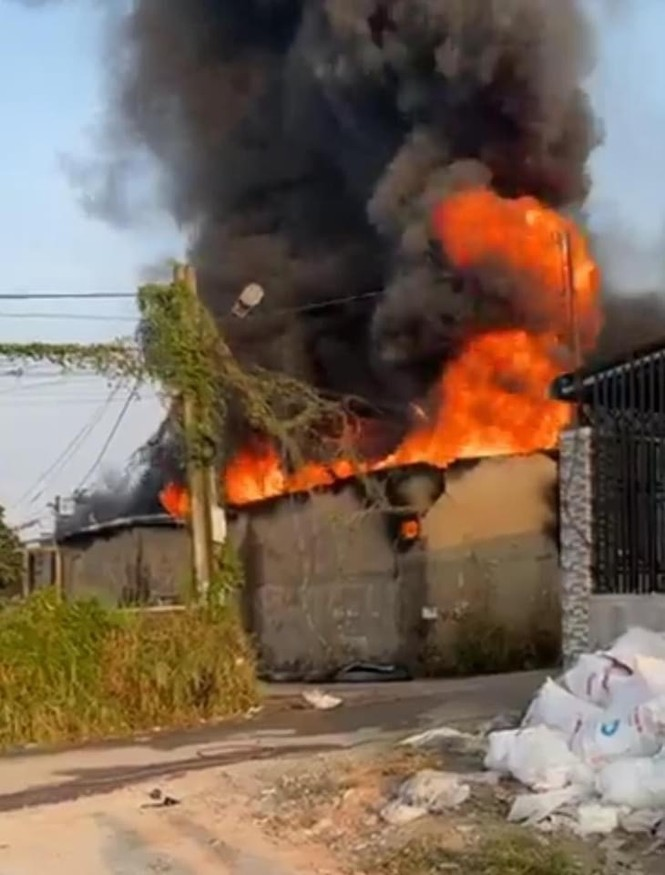 Điều tra vụ cháy trong đêm thiêu rụi một cơ sở sản xuất gỗ - ảnh 1