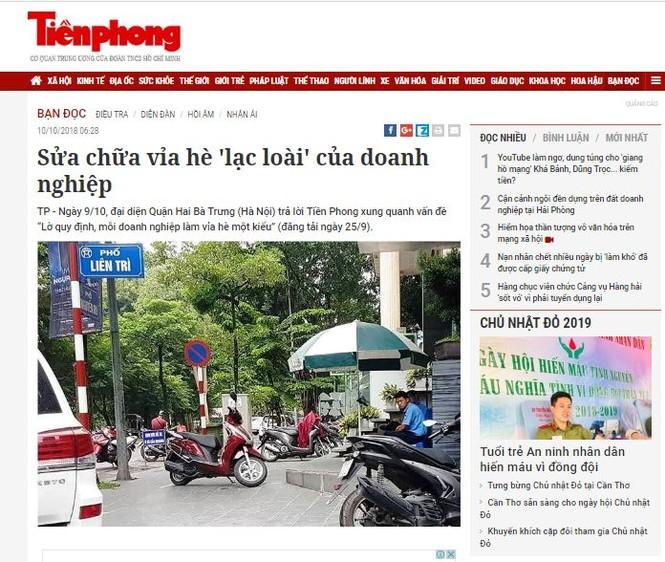 Báo Tiền Phong đạt giải ba thi viết về an toàn giao thông - ảnh 2