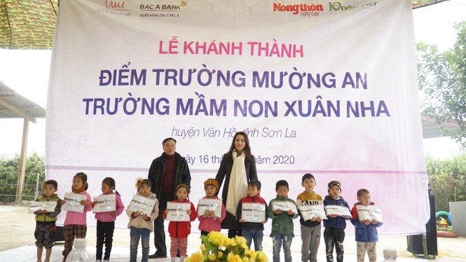 Quỹ Vì Tầm vóc Việt hoàn thành nâng cấp một điểm trường mầm non ở Vân Hồ, Sơn La - ảnh 11
