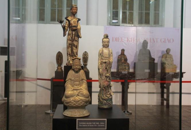 Cận cảnh hơn 100 pho tượng Phật cổ cực quý hiếm đang trưng bày tại TPHCM - ảnh 5