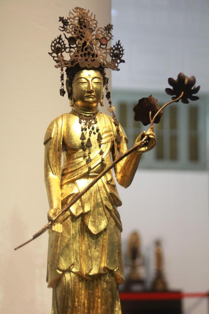Cận cảnh hơn 100 pho tượng Phật cổ cực quý hiếm đang trưng bày tại TPHCM - ảnh 10