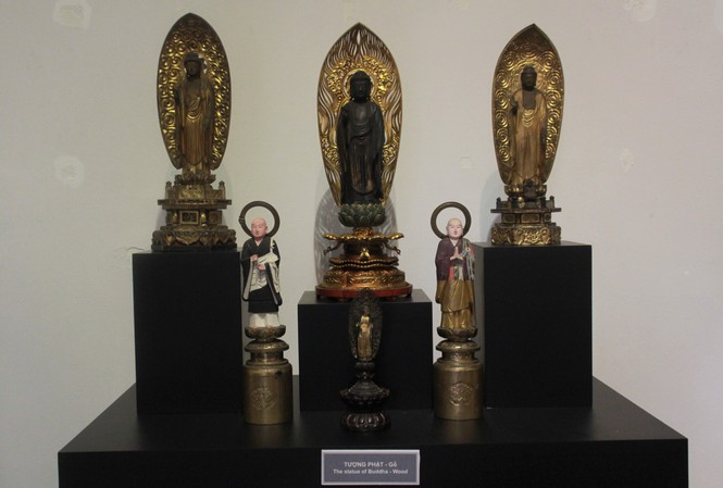 Cận cảnh hơn 100 pho tượng Phật cổ cực quý hiếm đang trưng bày tại TPHCM - ảnh 19