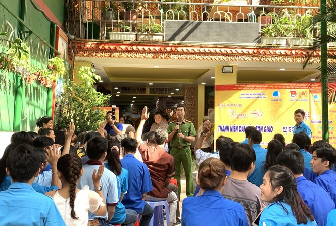 Nhiều hoạt động chăm lo tại ngày hội Thanh niên các dân tộc, tôn giáo  - ảnh 1