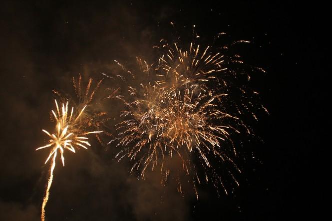 Người dân thành phố Thủ Đức hân hoan với màn pháo hoa chào năm mới - ảnh 11