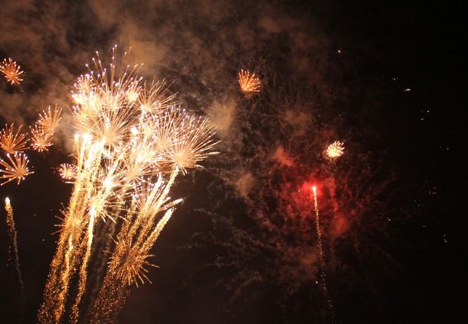 Người dân thành phố Thủ Đức hân hoan với màn pháo hoa chào năm mới - ảnh 12