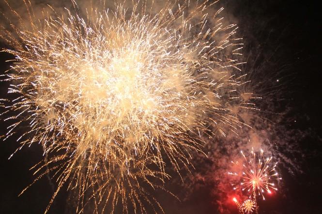 Người dân thành phố Thủ Đức hân hoan với màn pháo hoa chào năm mới - ảnh 13