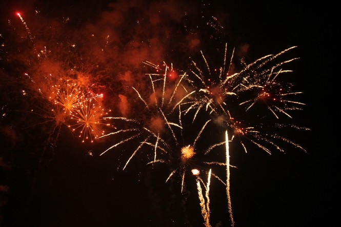 Người dân thành phố Thủ Đức hân hoan với màn pháo hoa chào năm mới - ảnh 19