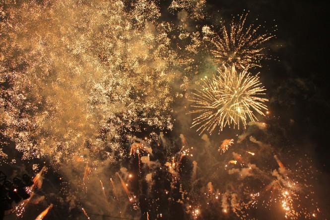 Người dân thành phố Thủ Đức hân hoan với màn pháo hoa chào năm mới - ảnh 15