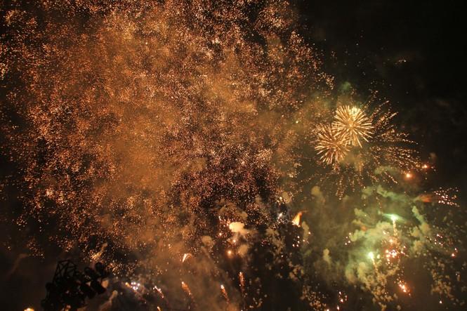 Người dân thành phố Thủ Đức hân hoan với màn pháo hoa chào năm mới - ảnh 14