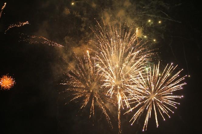 Người dân thành phố Thủ Đức hân hoan với màn pháo hoa chào năm mới - ảnh 21