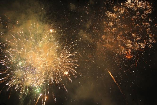 Người dân thành phố Thủ Đức hân hoan với màn pháo hoa chào năm mới - ảnh 23
