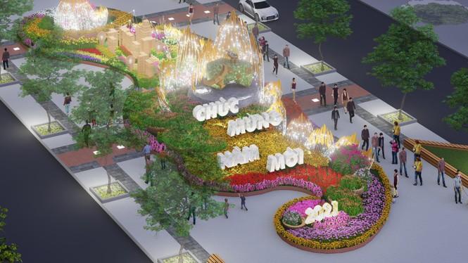 Lộ thiết kế đường hoa Nguyễn Huệ Tết Tân Sửu - ảnh 1