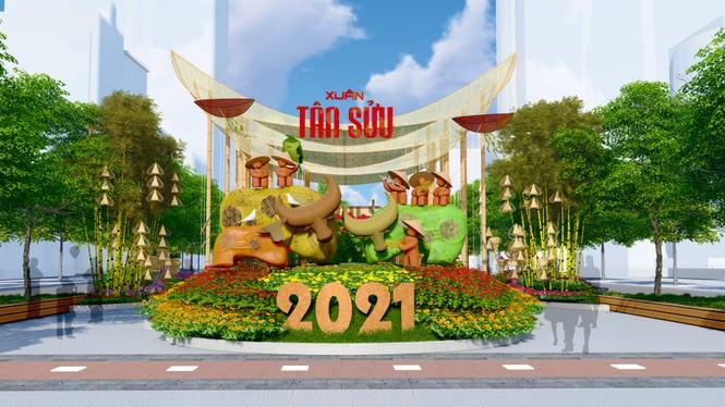 Lộ thiết kế đường hoa Nguyễn Huệ Tết Tân Sửu - ảnh 3