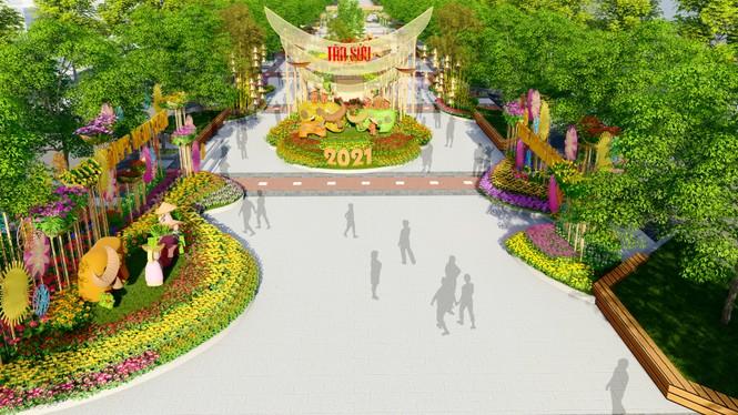 Lộ thiết kế đường hoa Nguyễn Huệ Tết Tân Sửu - ảnh 2