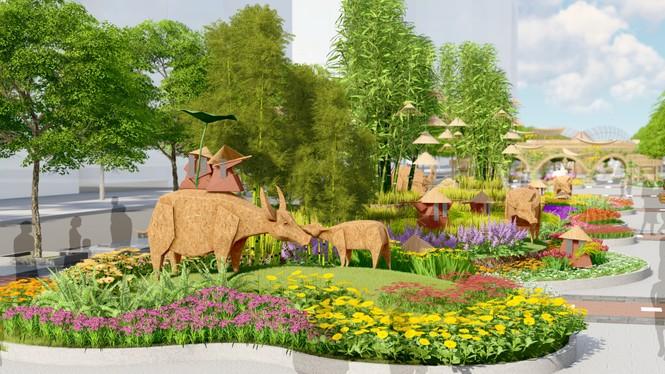 Lộ thiết kế đường hoa Nguyễn Huệ Tết Tân Sửu - ảnh 7