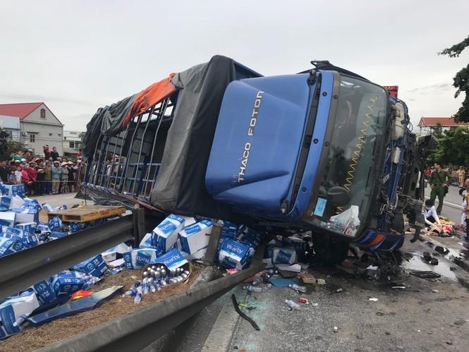 Tài xế xe tải tông 7 người sang đường ở Hải Dương khai gì? - ảnh 1