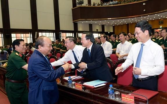 Thủ tướng Nguyễn Xuân Phúc dự, chỉ đạo Hội nghị Quân chính toàn quân - ảnh 1