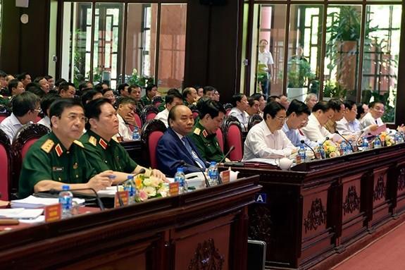 Thủ tướng Nguyễn Xuân Phúc dự, chỉ đạo Hội nghị Quân chính toàn quân - ảnh 2