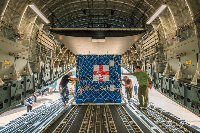 Cận cảnh vận tải cơ C-17A chở bác sĩ mũ nồi xanh Việt Nam sang Nam Sudan - ảnh 7