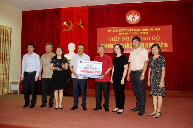 PVN chung tay cứu trợ đồng bào lũ lụt tỉnh Yên Bái - ảnh 1