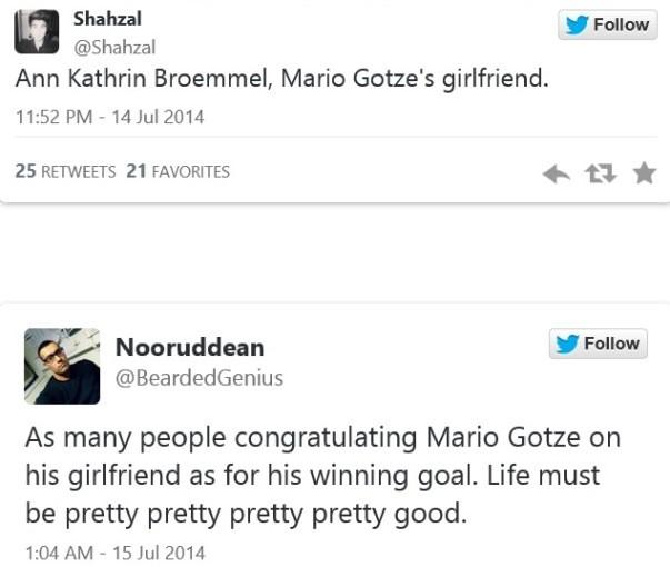Bạn gái Goetze bất ngờ nổi tiếng nhờ màn 'khóa môi' trên sân - ảnh 2