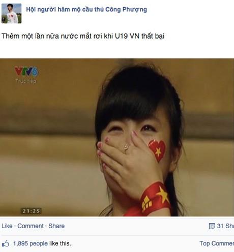 Nữ CĐV đáng yêu bật khóc vì U19 Việt Nam gây sốt mạng - ảnh 3