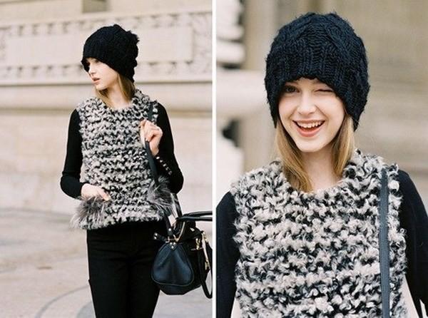 """Những phong cách kết hợp """"cực ăn ý"""" giữa mũ len và kiểu tóc - ảnh 8"""