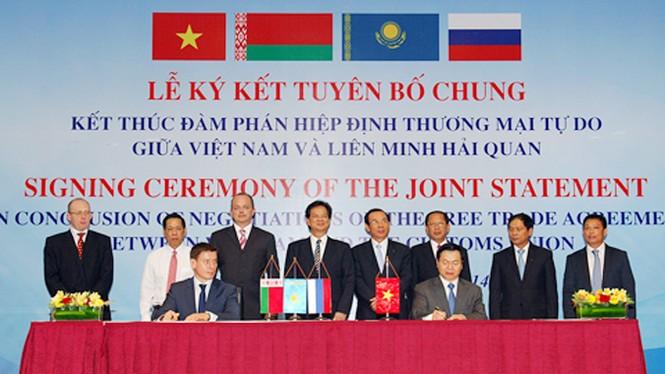 Kết thúc đàm phán FTA Việt Nam-Liên minh Hải quan - ảnh 1