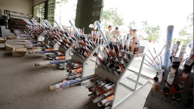 Bệ pháo hoa ở sân trực thăng tòa nhà cao nhất Sài Gòn - ảnh 5
